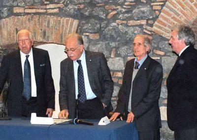 Direttivo in una foto: Presidente prof. Claudio Zanghì, V.Presidente avv.to Bernardo Zanghì, presidente Comitato scientifico prof. Lorenzo Pavone, membro. dott. Alberto Fischer