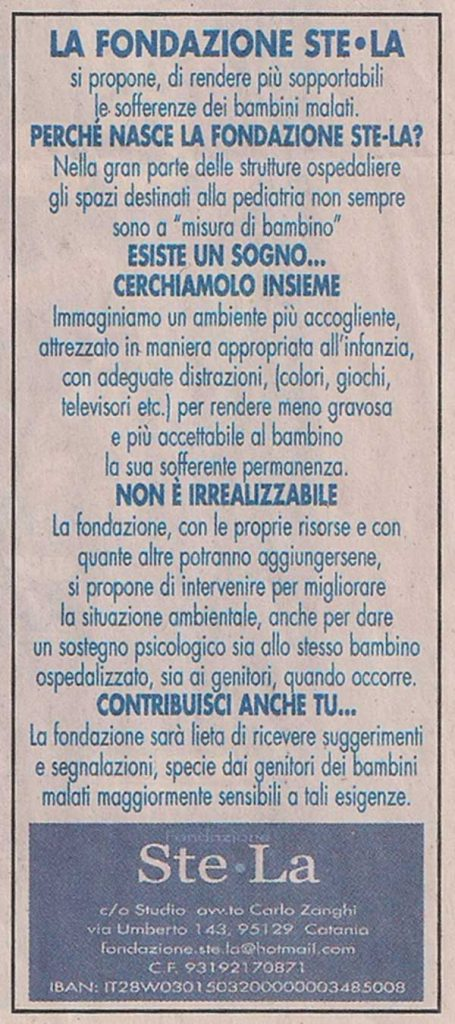 """Locandina su """"La Sicilia"""""""