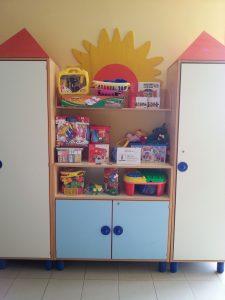 Fornitura di mobili e materiali di consumo per permettere ai piccoli ricoverati di poter dipingere, con varie tecniche.